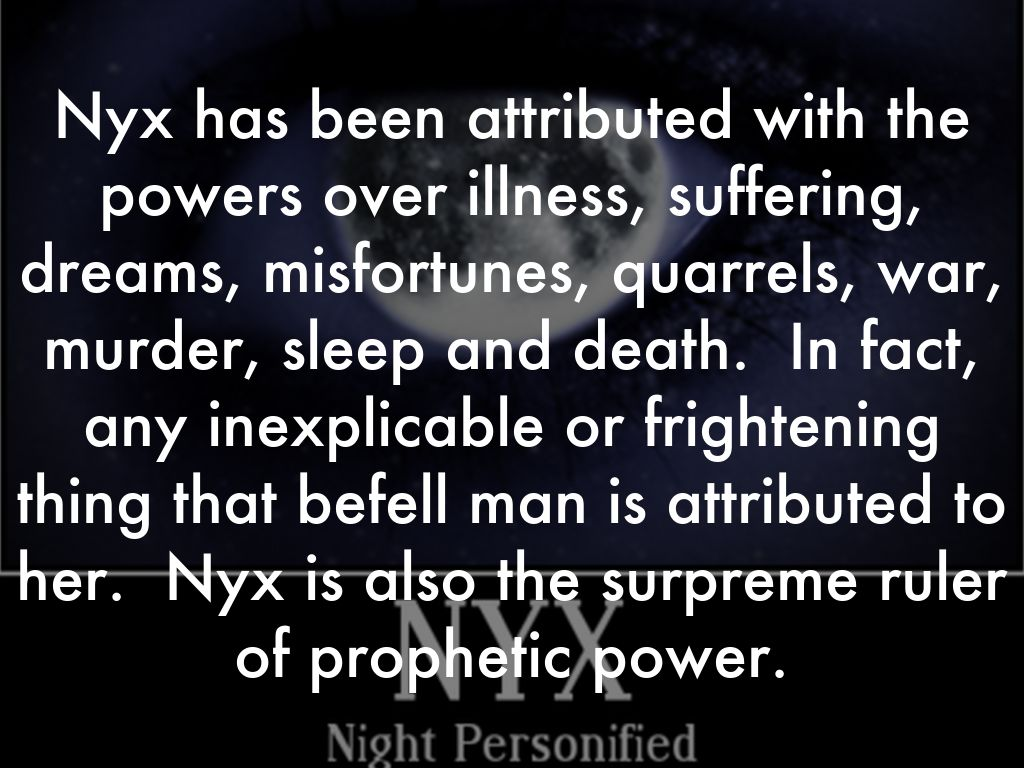 Nyx the greek goddess of night by morrowfrancis powers biocorpaavc