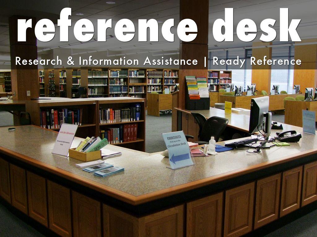 a reference desk.