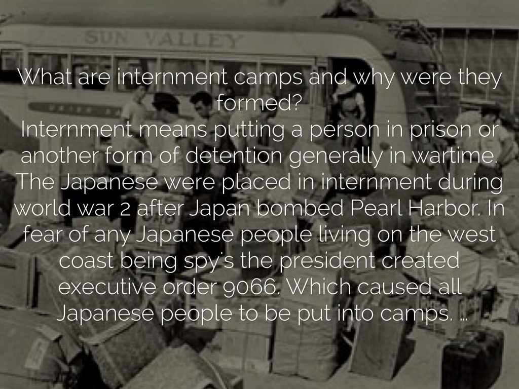 comparison concentration camps japanese internment United states — that allowed the us government to put japanese americans in internment camps  to concentration camps,  comparison.