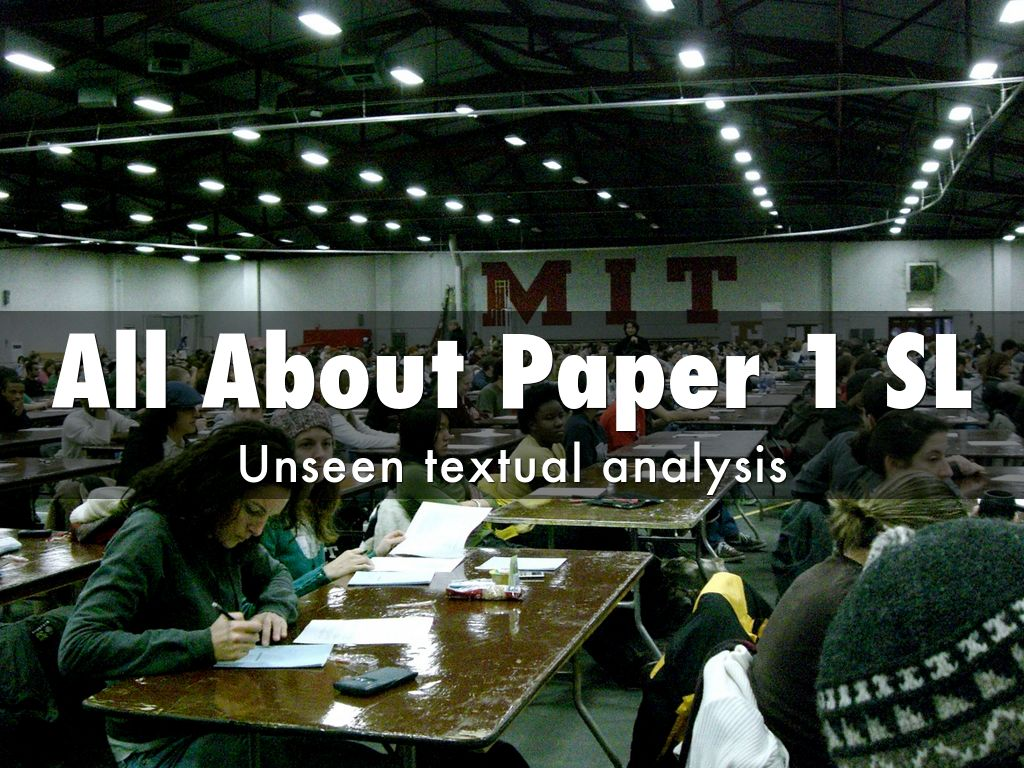 All About Paper 1 SL