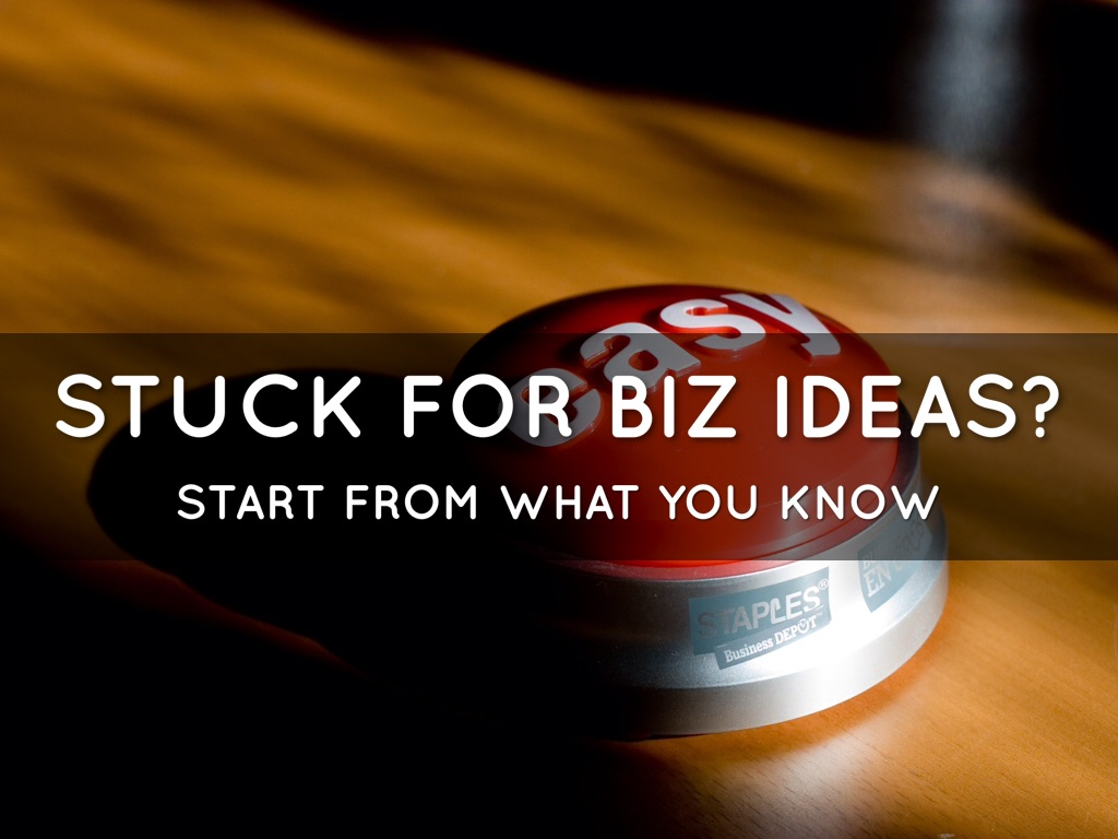 How to start a #business from what you already know!