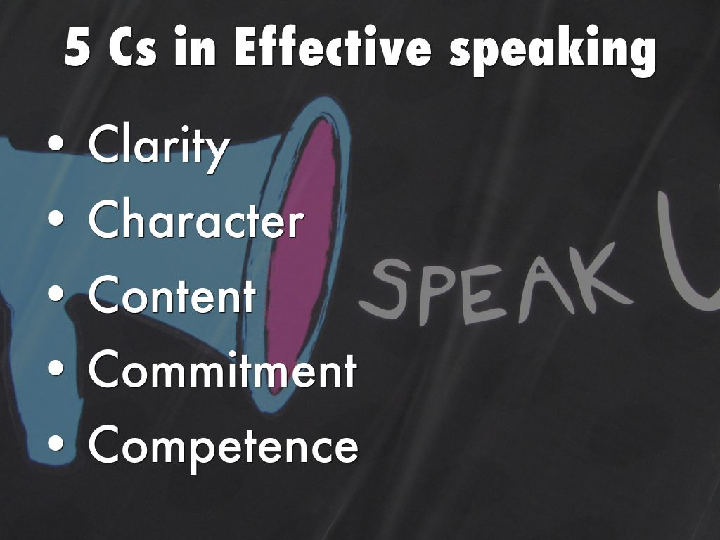 effective speaking The section on effective public speaking: powerpoint presentations gives you some important principles when using microsoft powerpoint in.