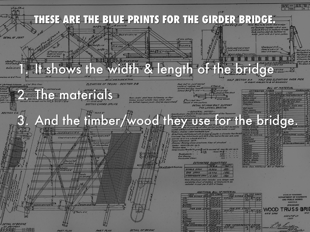 Girder Bridge By Peytonbrammer This Picture Shows A Simple Schematic Of Beam It Is These Are The Blue Prints For