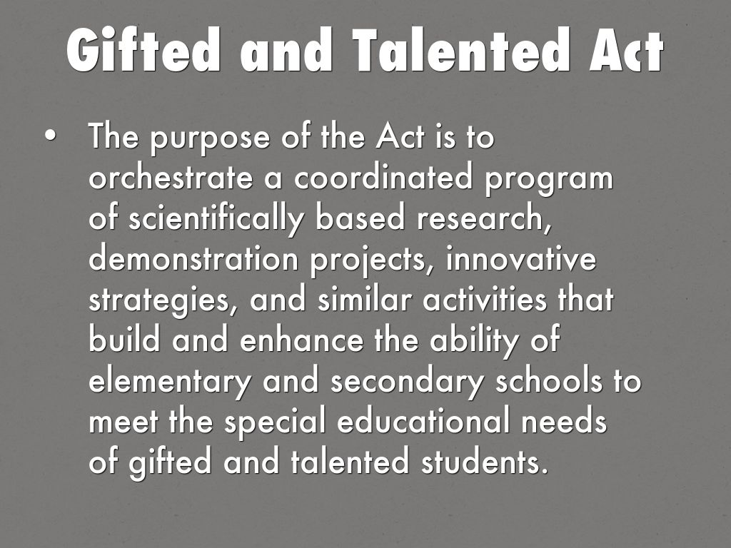 gifted and talented research paper Does gifted education work for which students david card, laura giuliano nber working paper no should gifted and talented programs be allocated on the basis.