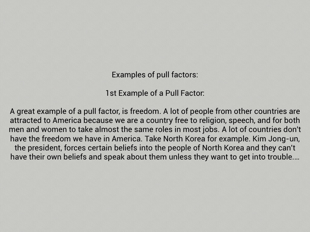 what is a push factor