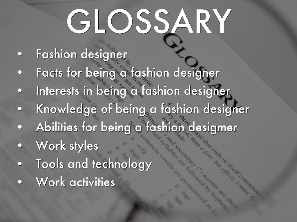 Facts About Fashion Designers