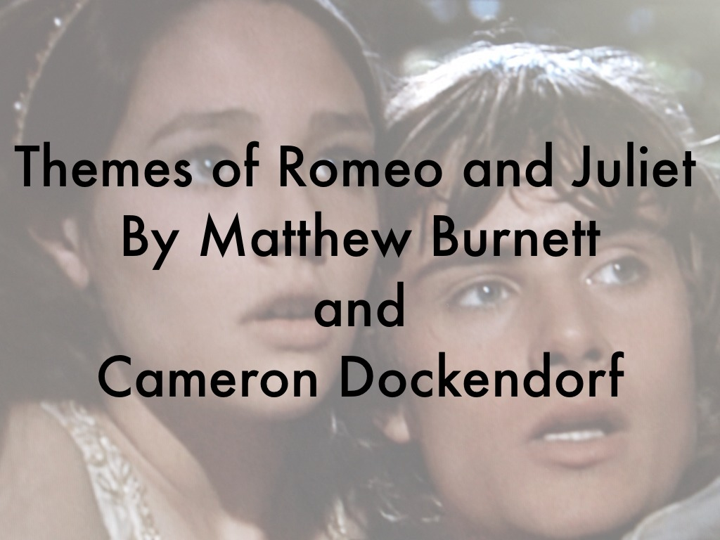 theme of rivalry in romeo and juliet The major themes of romeo and juliet include love v lust, the passage of time, the role of fate in one's life, the role of women, and love vs hate you'll find a.