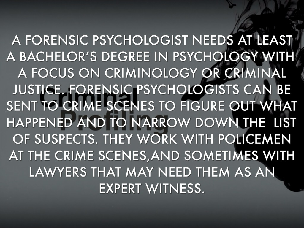 Forensic Psychology By Sophia Jenson