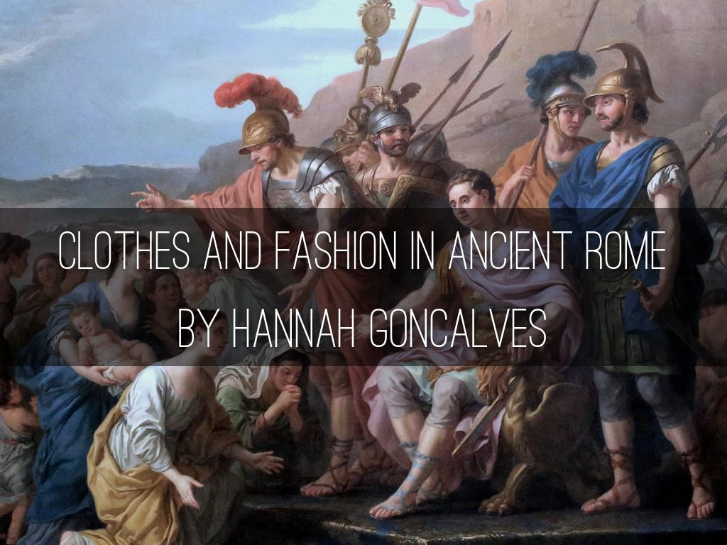 Clothes And Fashion In Ancient Rome By Matt Finnis