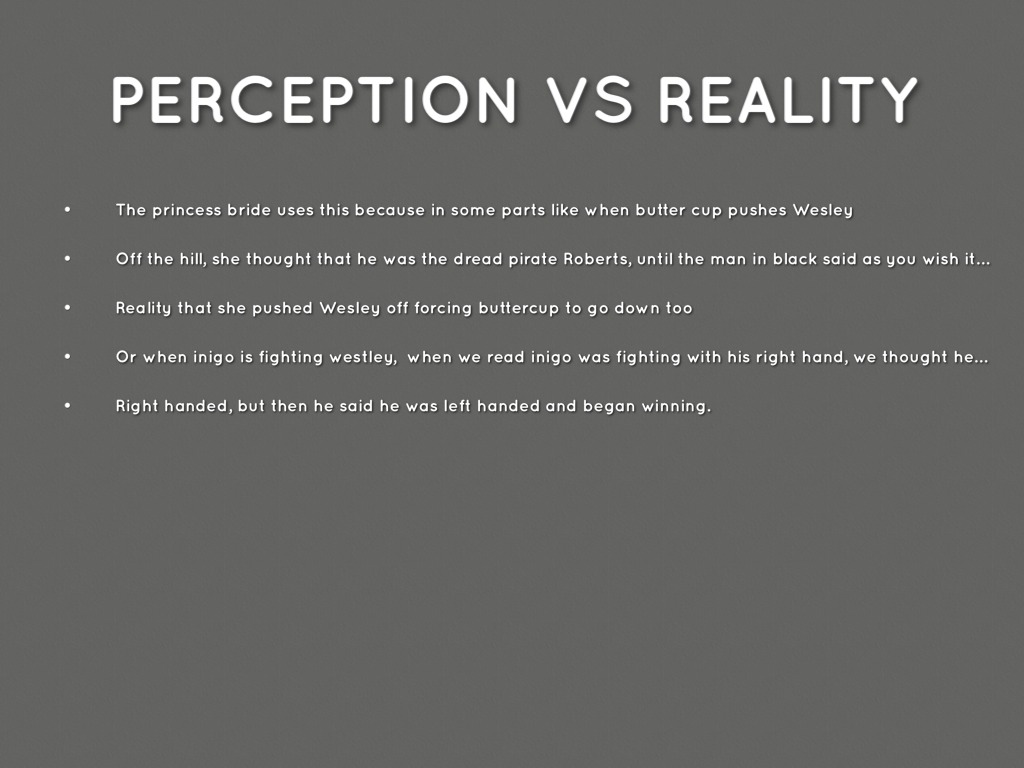 othello perception vs reality Below is an essay on appearance vs reality villains- othello from anti essays illusion vs reality perception vs reality illusion vs reality fiction vs.