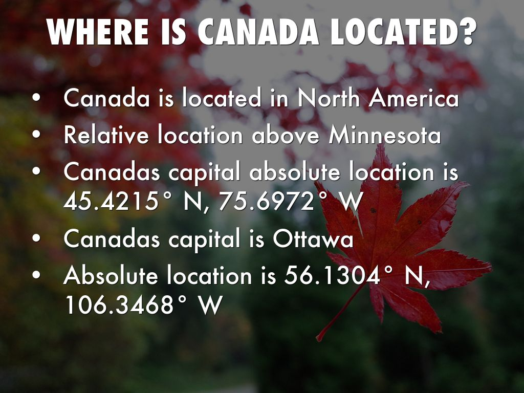 Canada By Dan Eggink - Where is canada located