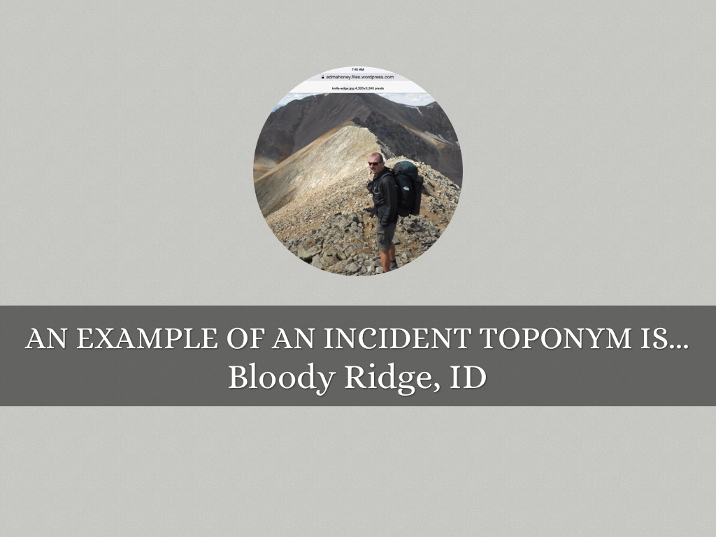 Toponyms By Trey