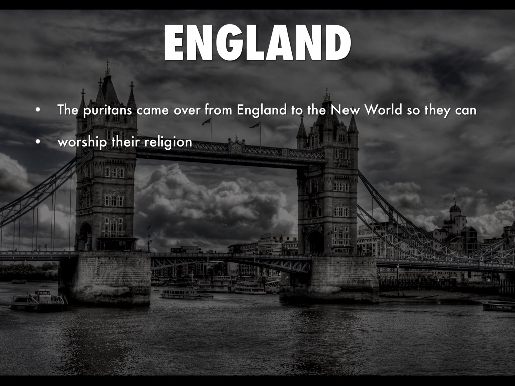 from england to the new world