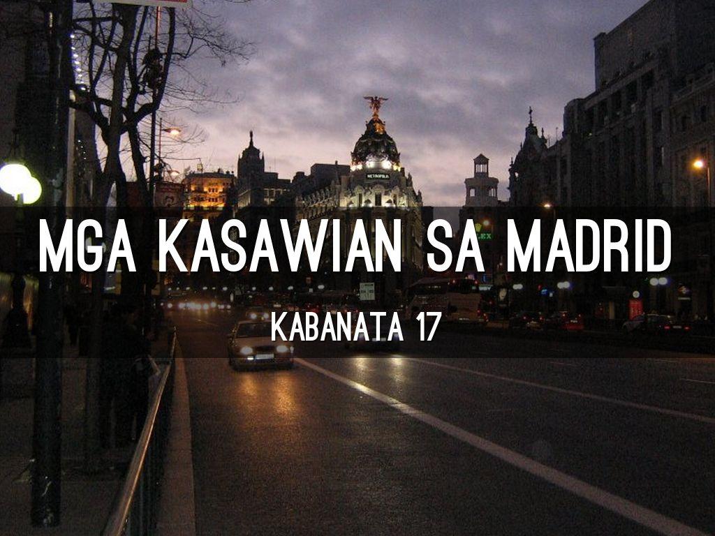 mga kasawian sa madrid by lyda balagtey
