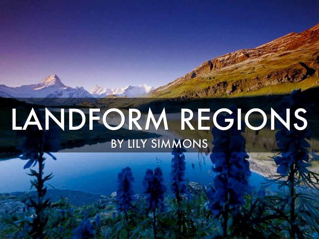 Landform Regions by simmonl18