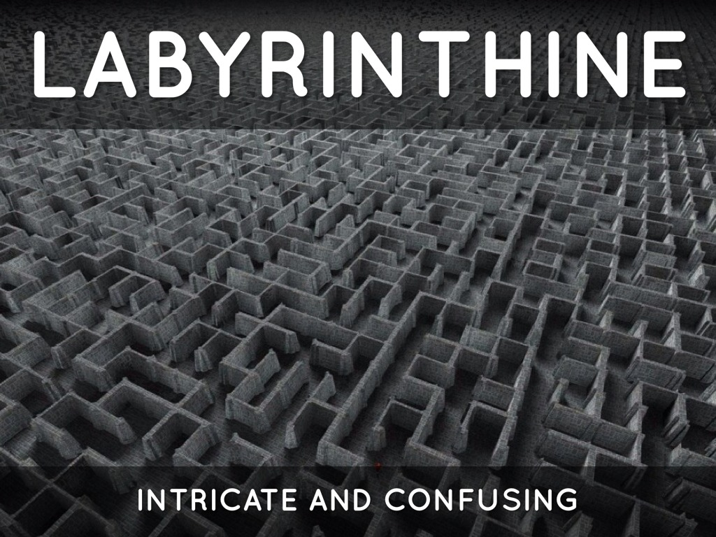 labyrinthine Complicated tortuous: the labyrinthine byways of modern literature show more also lab  in hi n [lab-uh-rin-thee-uh n] /ˌlæb əˈrɪn θi ən/,.