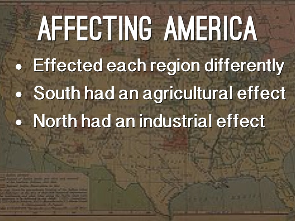 the effects of the industrial revolution in north america