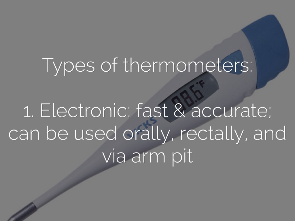 types of thermometers essay During investigation and diagnosis of patients, accurate temperature measurement is of great importance the advantages of tympanic membrane thermometry are speed (temperature reading available within seconds), safety, and ease of use the aim of this study was to compare the accuracy of infrared tympanic thermometers in comparison to mercury thermometers.