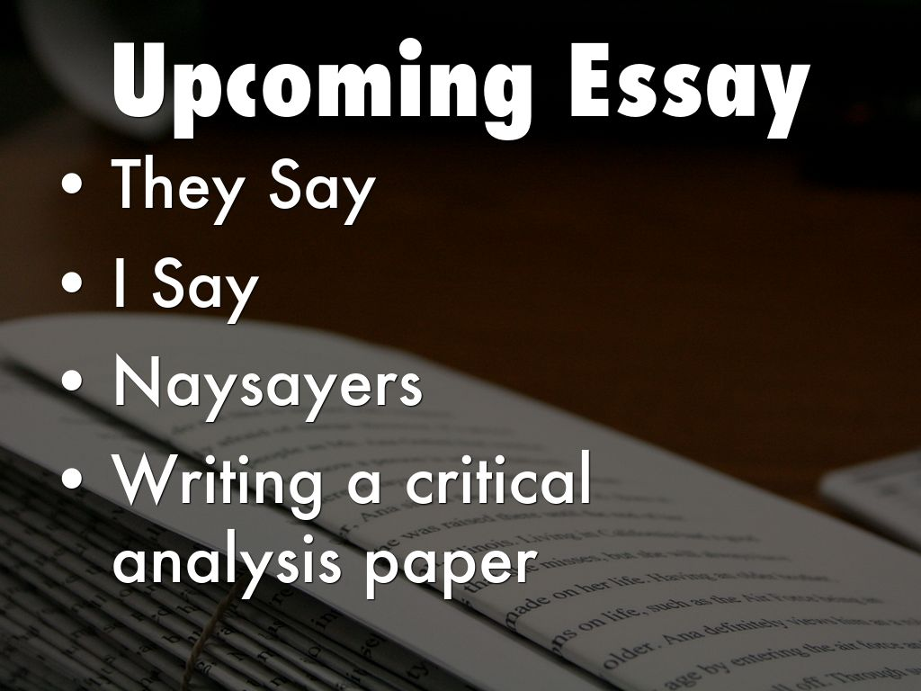 critical analysis paper