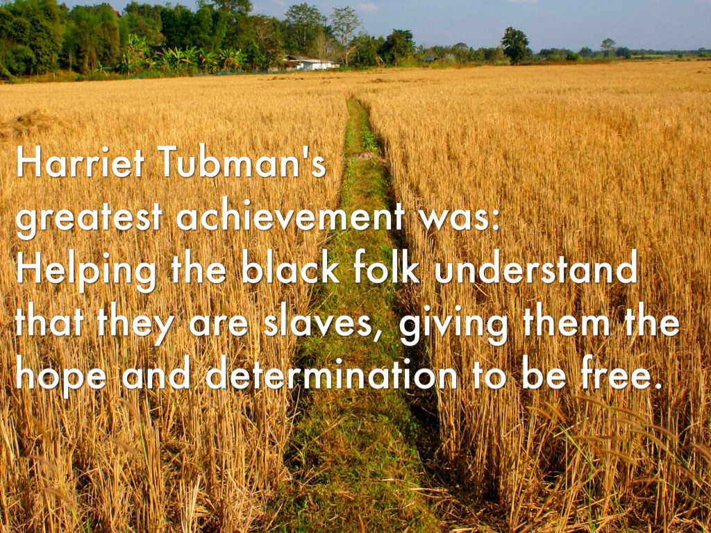harriet tubman s greatest achievements A study of jacob lawrence's frederick douglass and harriet tubman series of tubman series of 1938-40 are among lawrence's greatest achievements as a.
