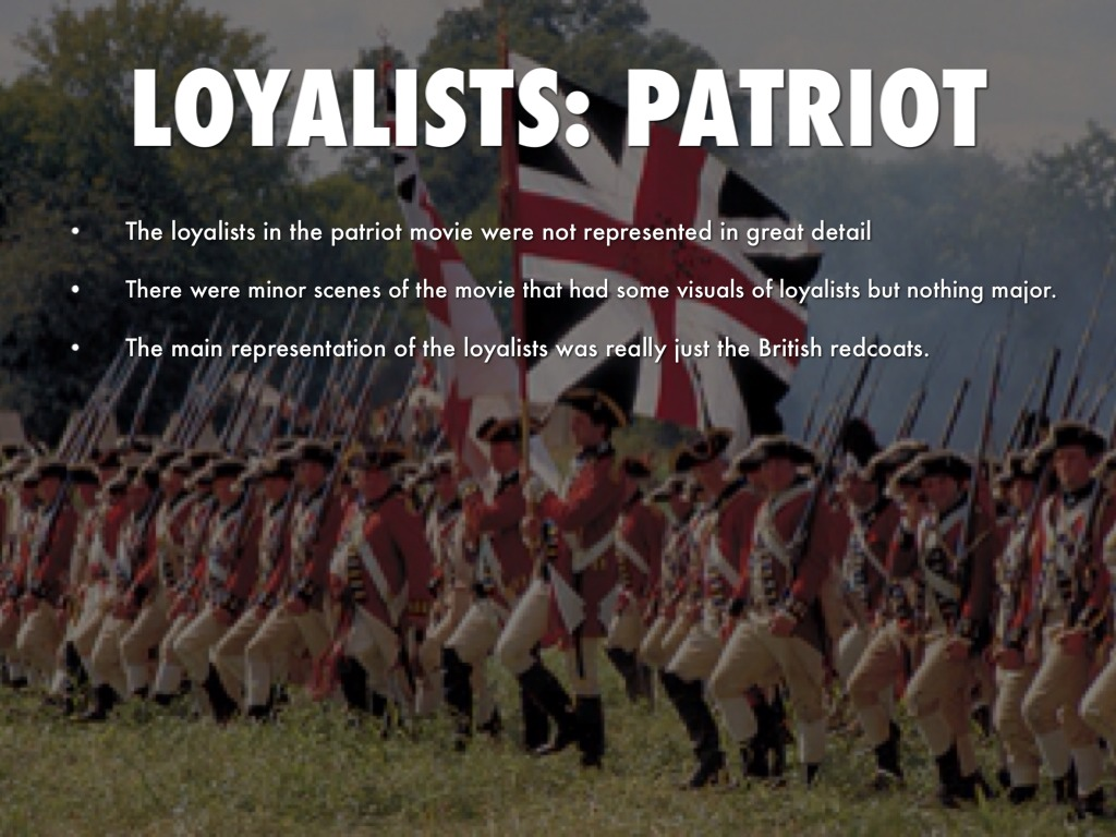 loyalist turned patriot Loyalist or patriot miss calamity (our eleven year old daughter) stunned me the other day with an incredibly astute observation she informed me that ours is a.