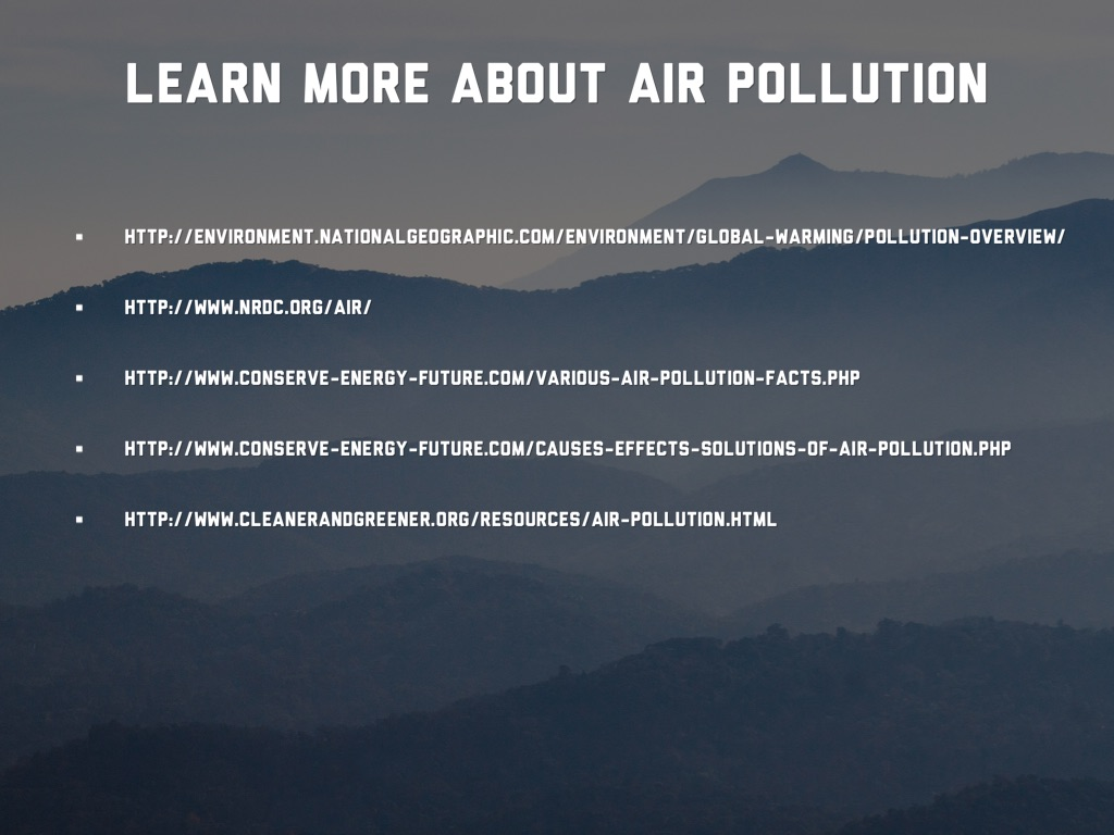 conserve energy future air pollution