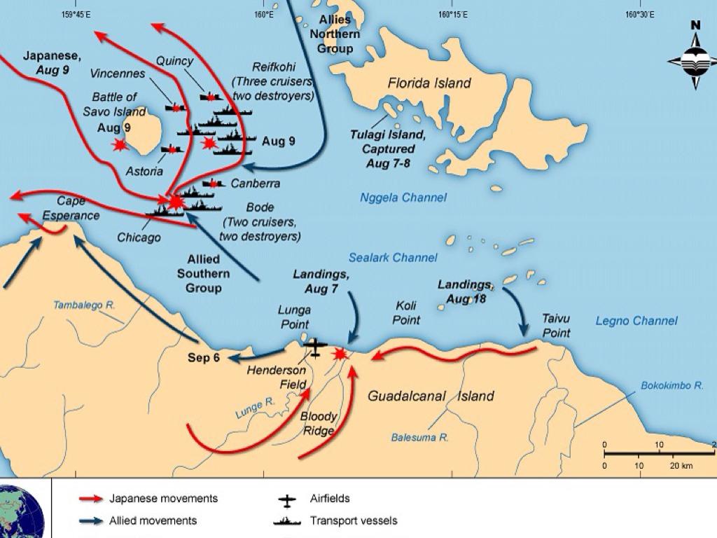 Rebecca granny guadalcanal island map