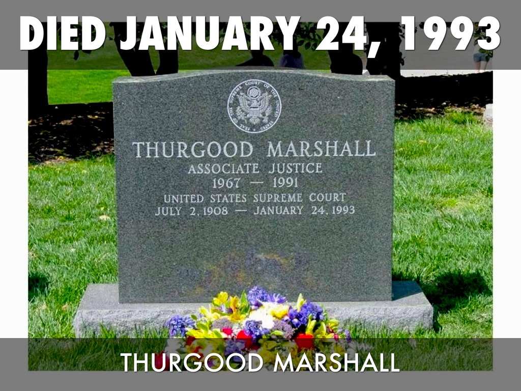 Image result for thurgood marshall death
