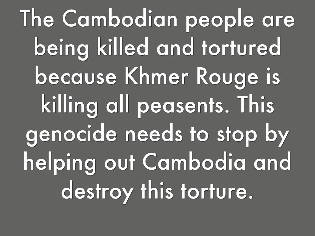 cambodia genocide essay