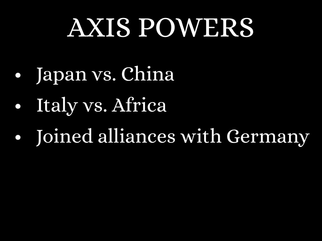 alliance with germany and italy the axis powers essay