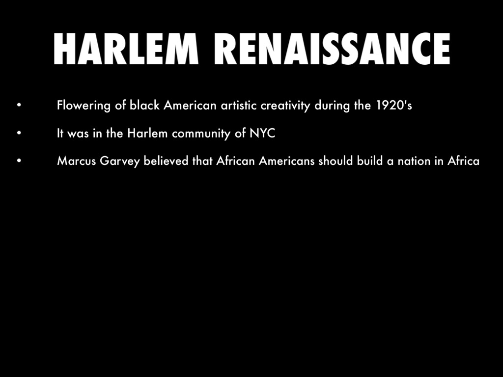 harlem renaissance promotes creative development among african americans