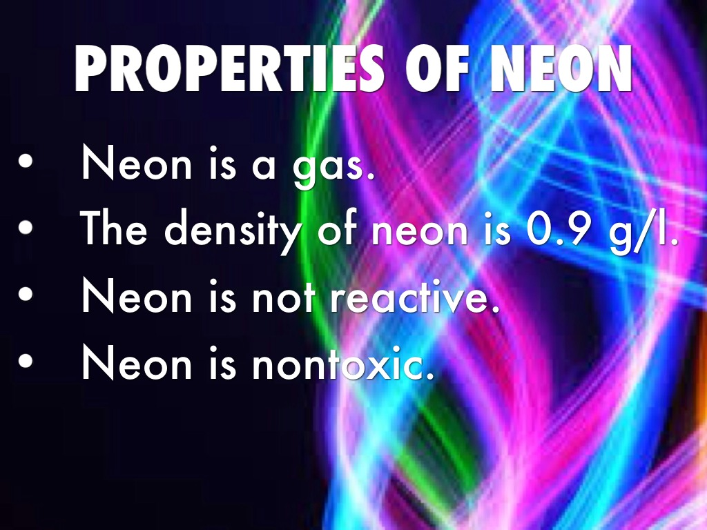 the discovery of neon in 1898 and its properties