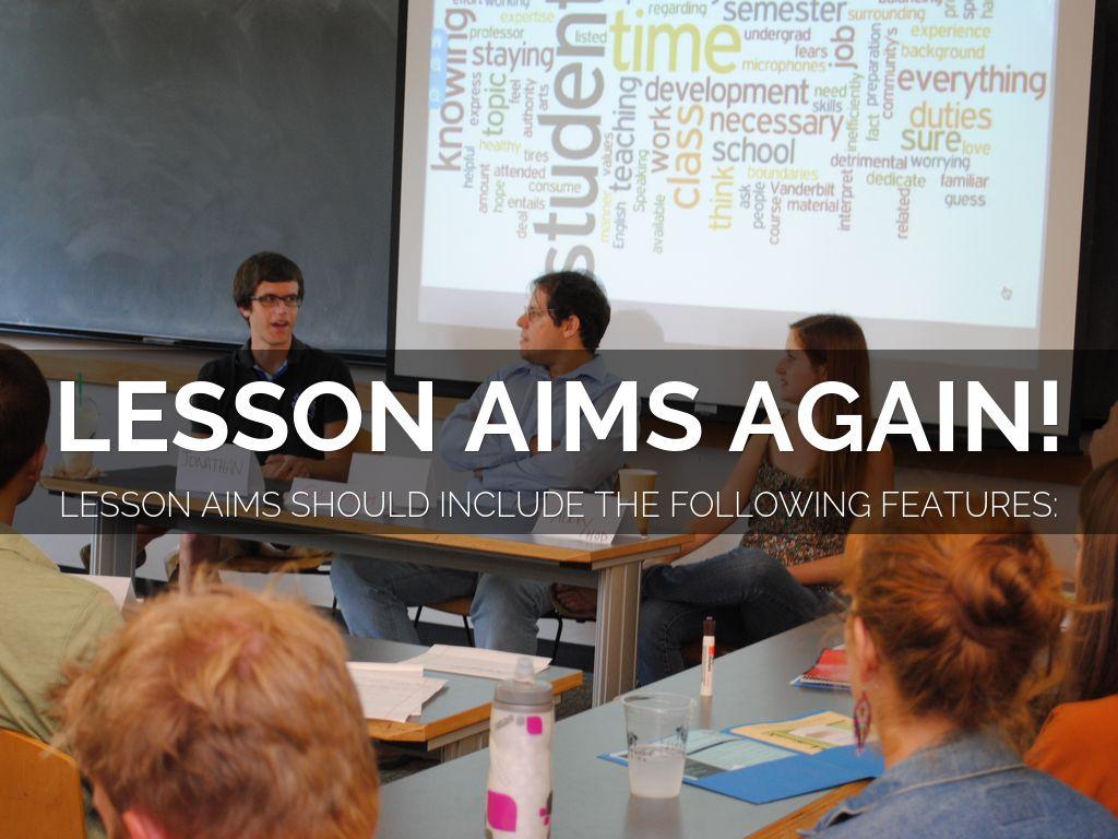 Lesson Aims Again!