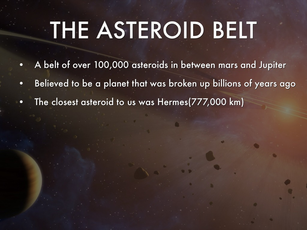 Asteroid Belt Facts - Image Of Belt