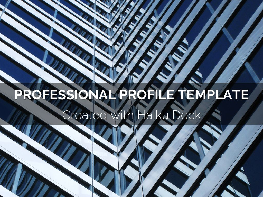 Kopie von Professional Profile Template