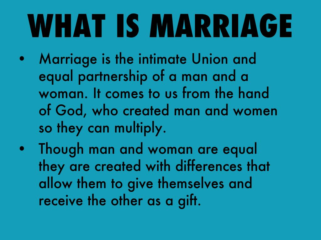 equal partnership in marriage