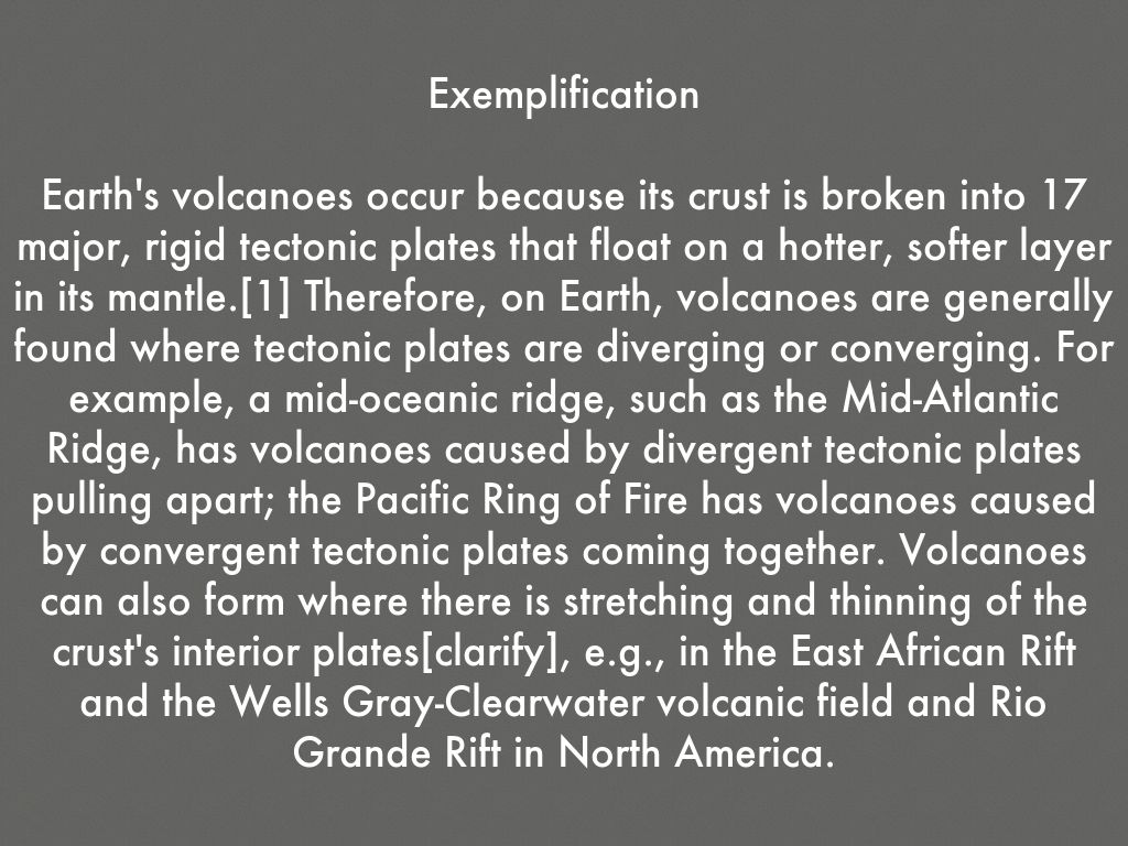 paragraph on volcano