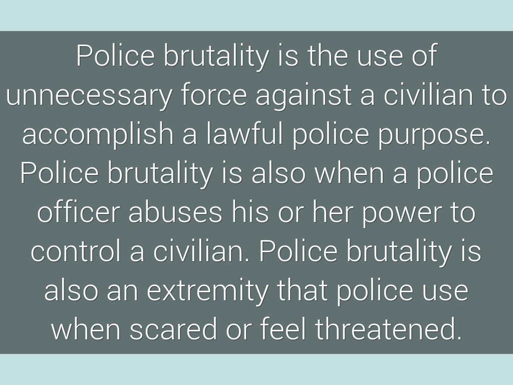 police brutality by shailyn dixon