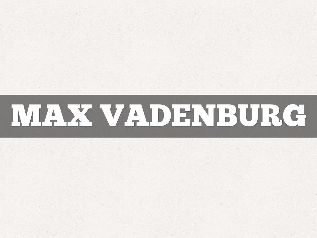 Max VADENBURG
