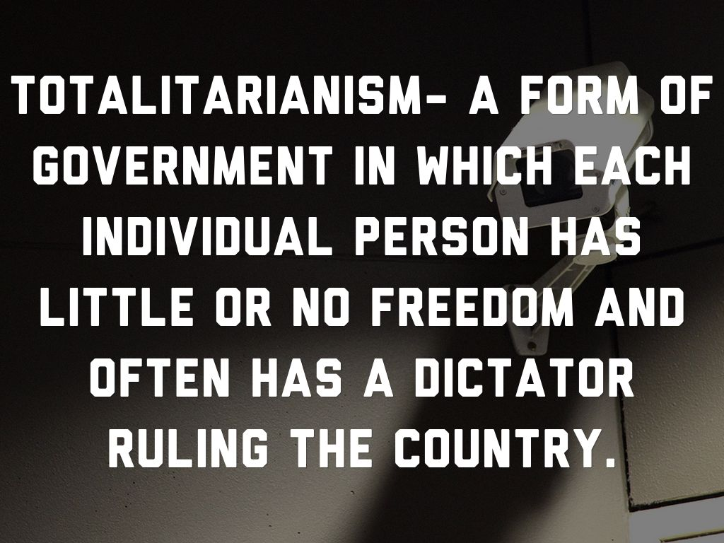 totalitarian individualism essay V for vendetta/ 1984 comparison essay 2306  residents of oceani0a since the totalitarian rule of  creedy and sutler and the sense of individualism within.
