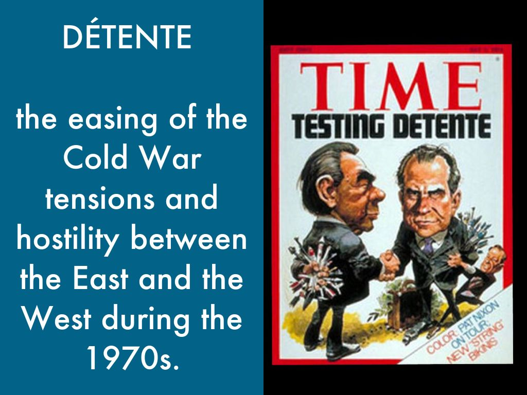 detente cold war To understand the globalisation of the cold war for the cie a-level history exam, we need three ingredients: facts, theory, and ideas i have previously written a subject knowledge cheat sheet that shows a list by region of every example of globalisation you need to know, as well as a brief idea of the 'type' of globalisation in those examples.