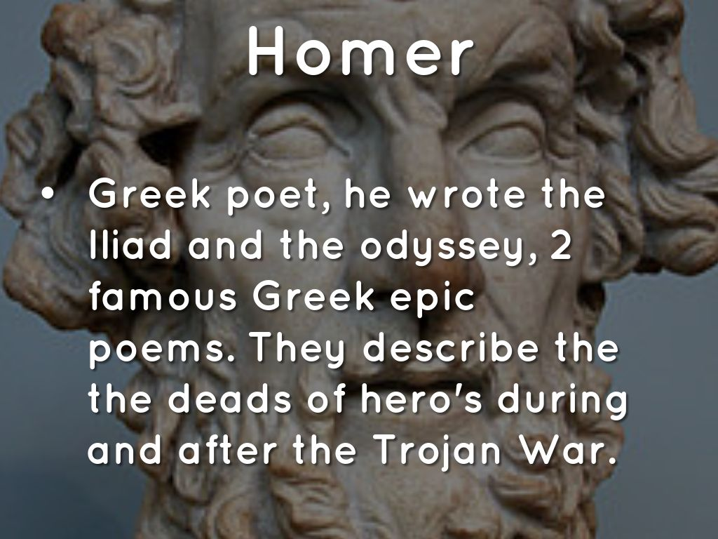a description of the greeks as portrayed by homer throughout the odyssey Worked example: seeing color through homer's eyes  about homer and his  contemporaries, meaning many sources for the iliad and odyssey  these epic  poems as the basis and not comparing it to other greek works at the time  be  seen as consistent with the way gladstone portrays homer as describing nature.