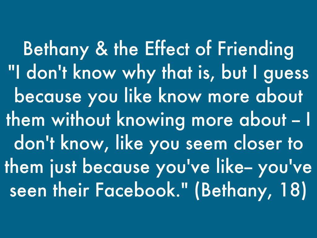 the effects of friendship