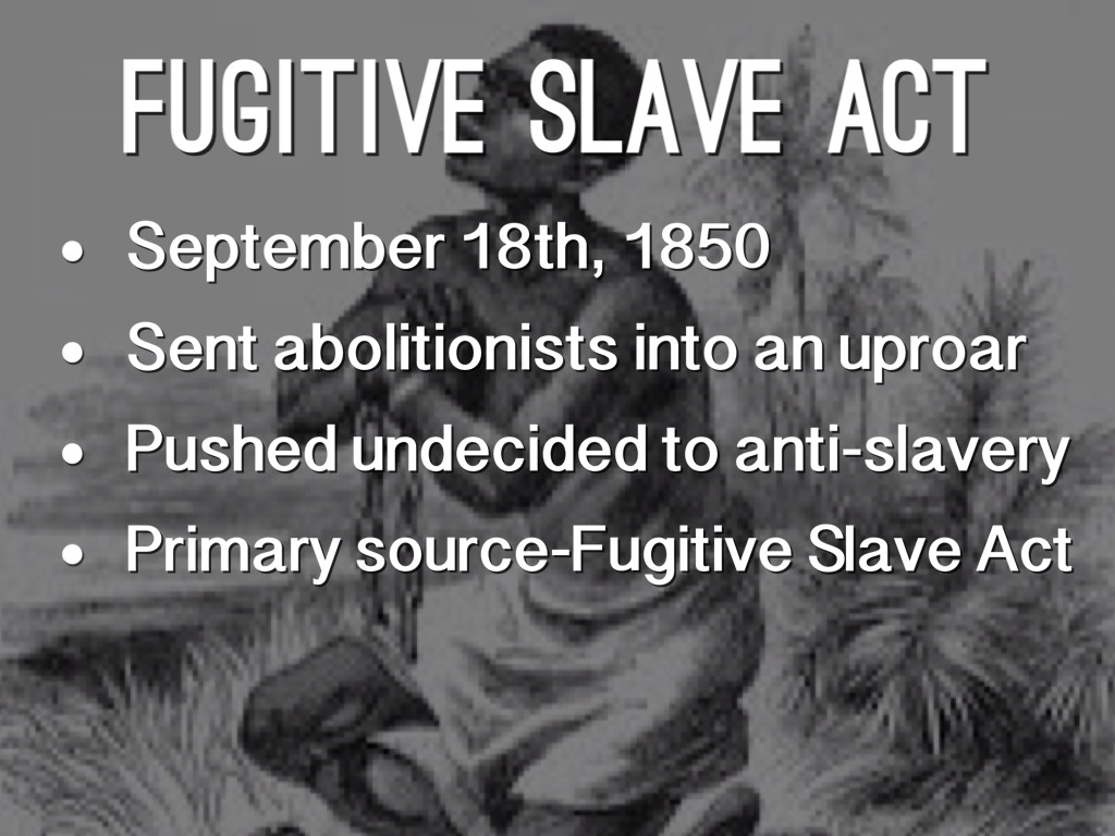 Fugitive Slave Act Of 1850 Map