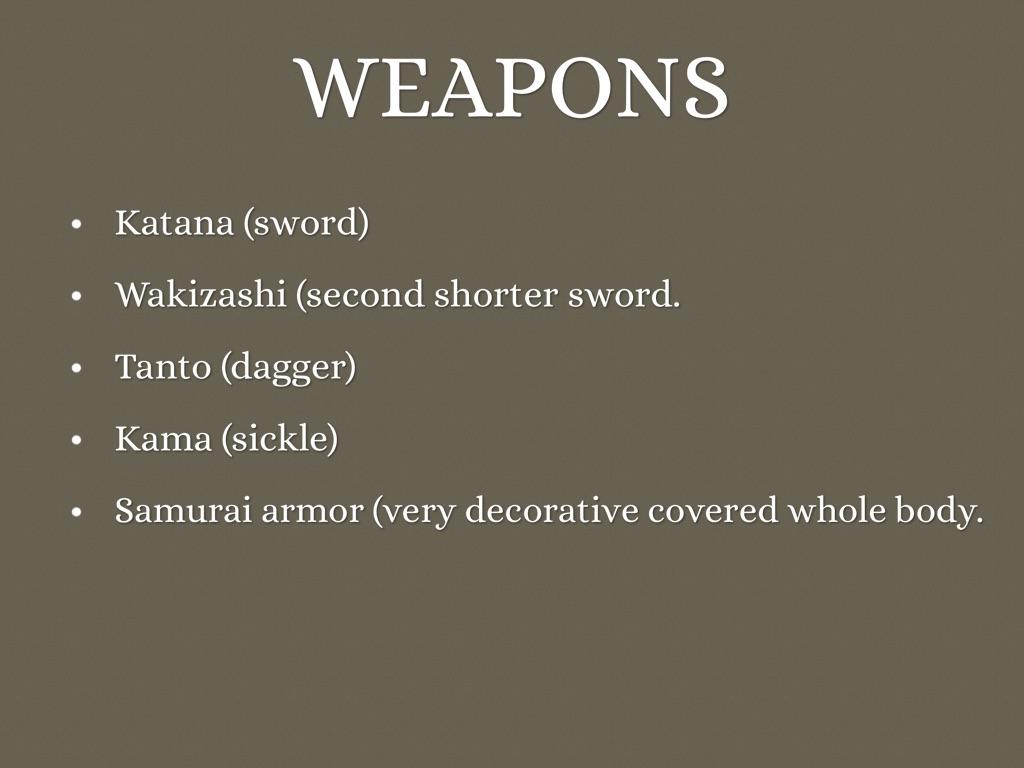 samurai warriors by Noah Gelerman