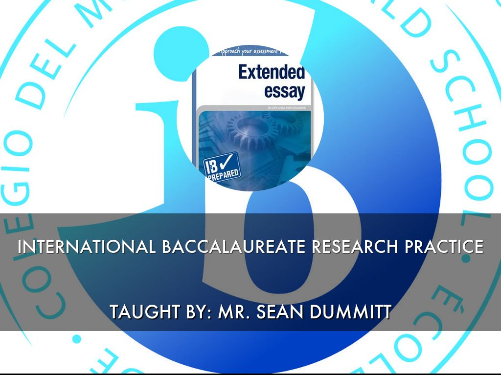 INTERNATIONAL BACCALAUREATE RESEARCH PRACTICE