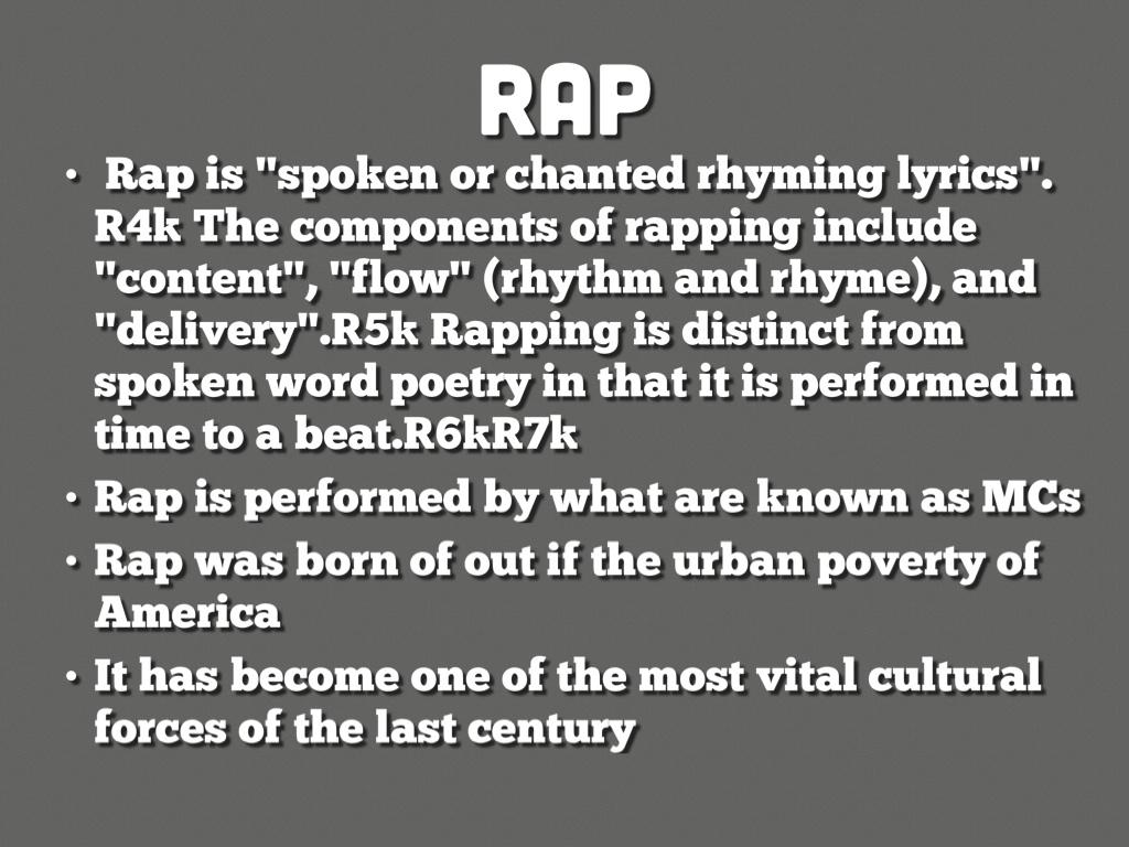 Rap Poetry 101 by Heidi Mears