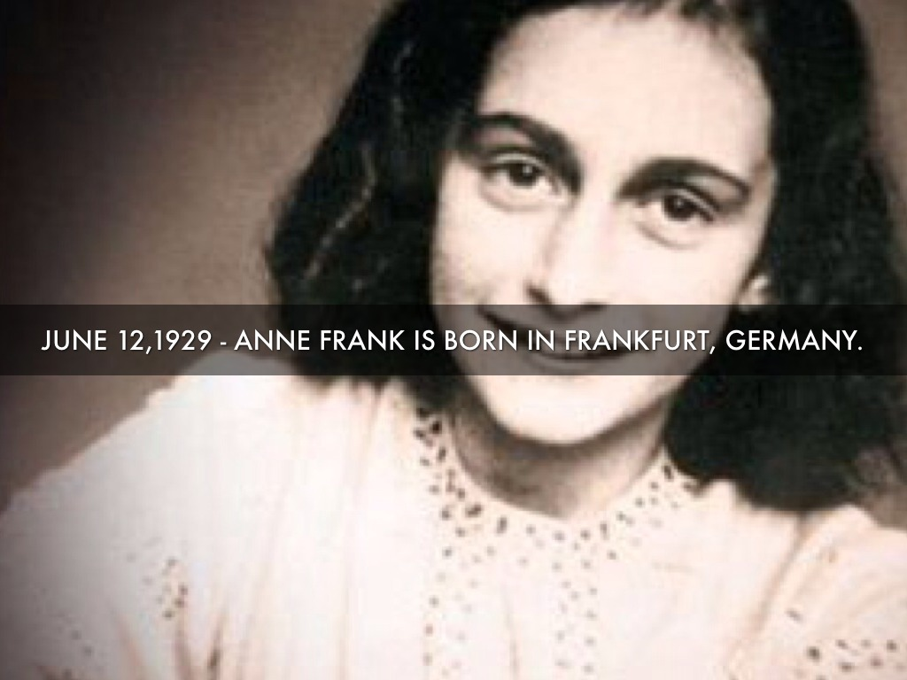 anne frank outline Anne has just turned thirteen, and she lists the birthday presents which she has  received, including the diary, which she says is possibly the nicest of all.