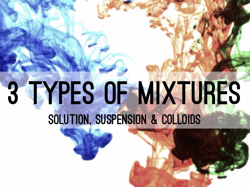 mixtures solutions suspensions and colloids
