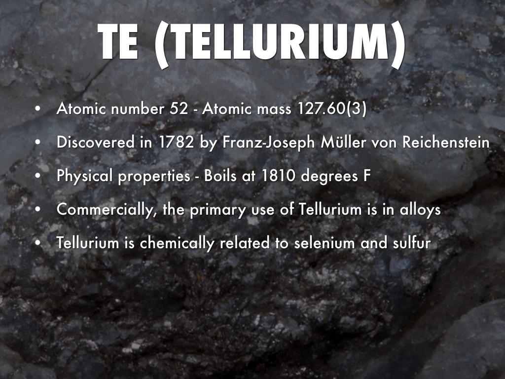 Physical Properties Of Tellurium